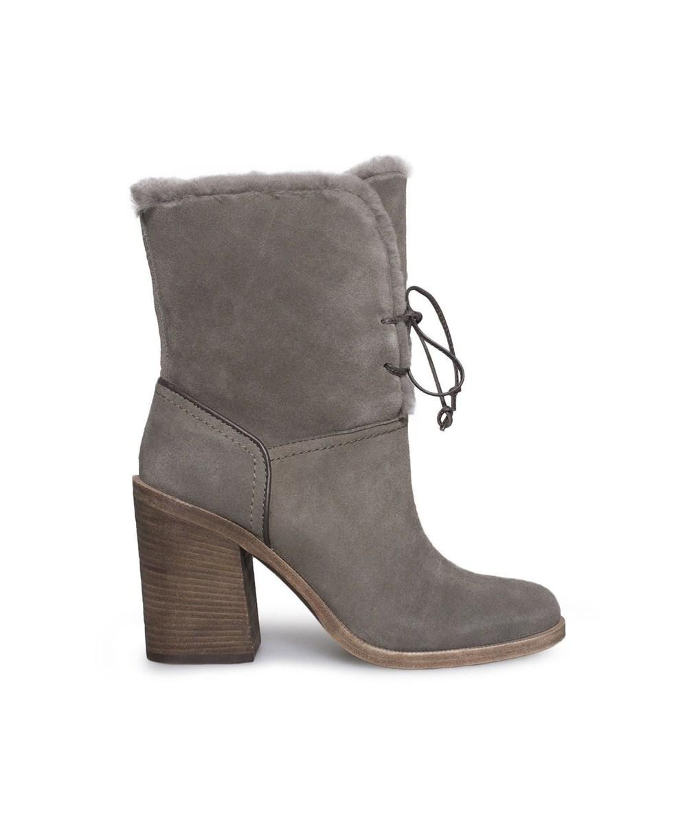 ad0d6de69dd Lyst - Ugg Womens Jerene Closed Toe Ankle Cold Weather Boots in Gray