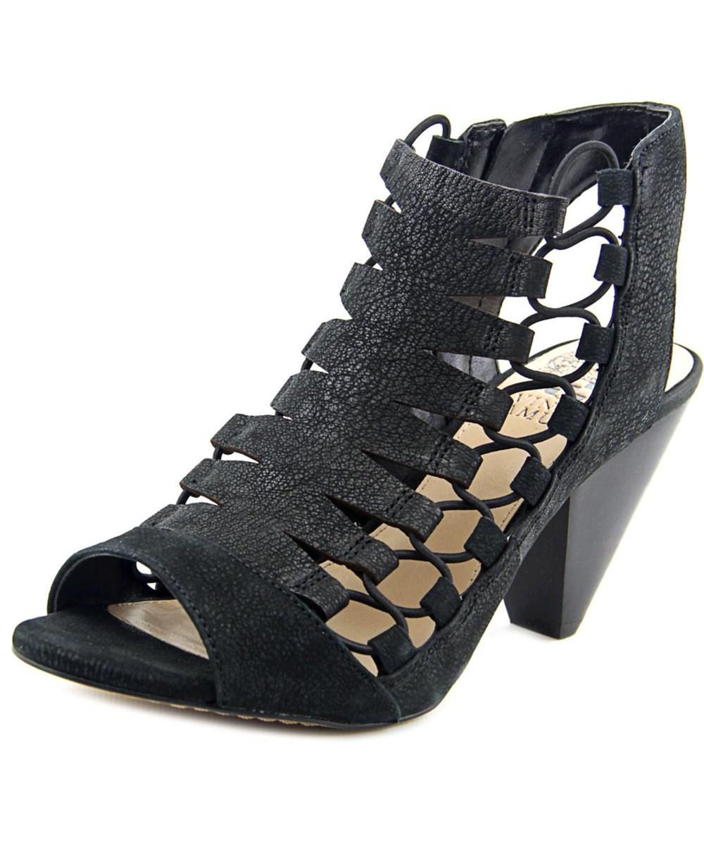 5ecdd1827d0 Lyst - Vince Camuto Eliaz Women Open Toe Leather Black Sandals in Black
