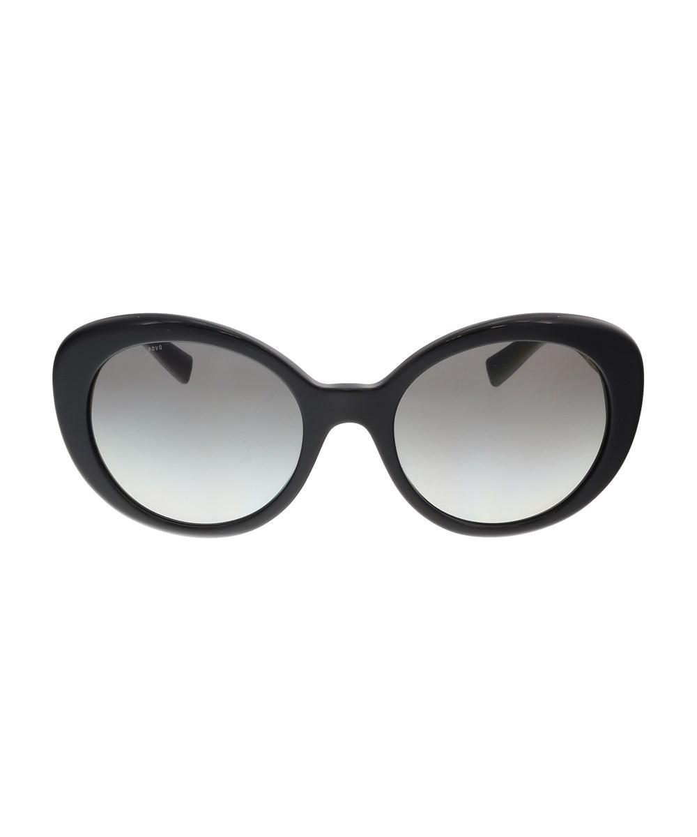 10ec76c093 Lyst - Versace Ve4318 Gb1 11 Oval Black Sunglasses in Black