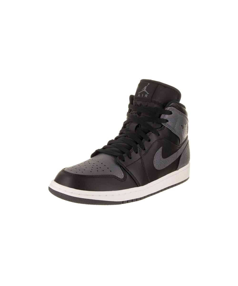 c3b9b8fe1cabd5 Lyst - Jordan Nike Men s Air 1 Mid Basketball Shoe in Black for Men