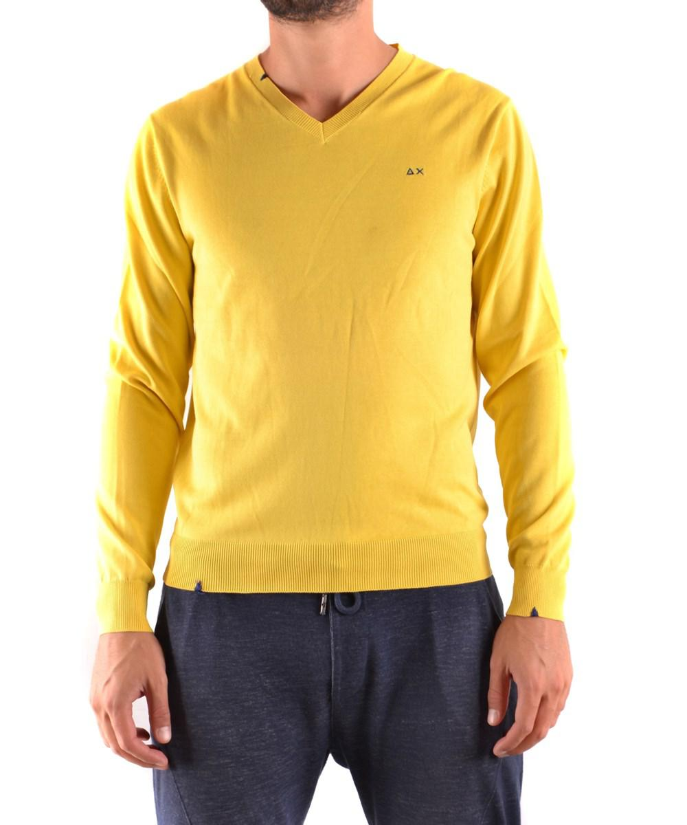 Sun 68 Men's Yellow Cotton Sweater in Yellow for Men | Lyst