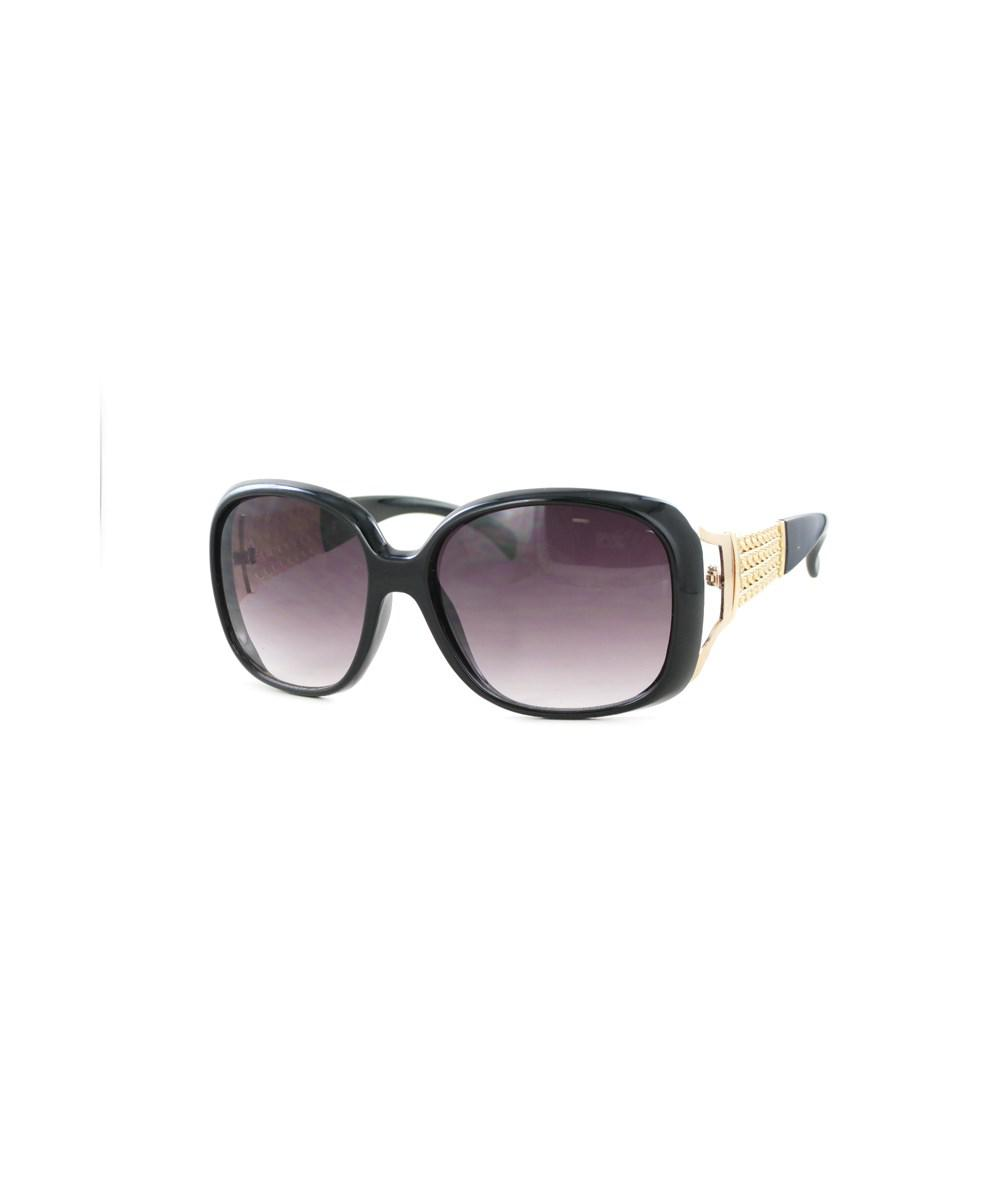 Lyst - Kay Unger Black Frames With Gold Arm Accent And Gradient ...