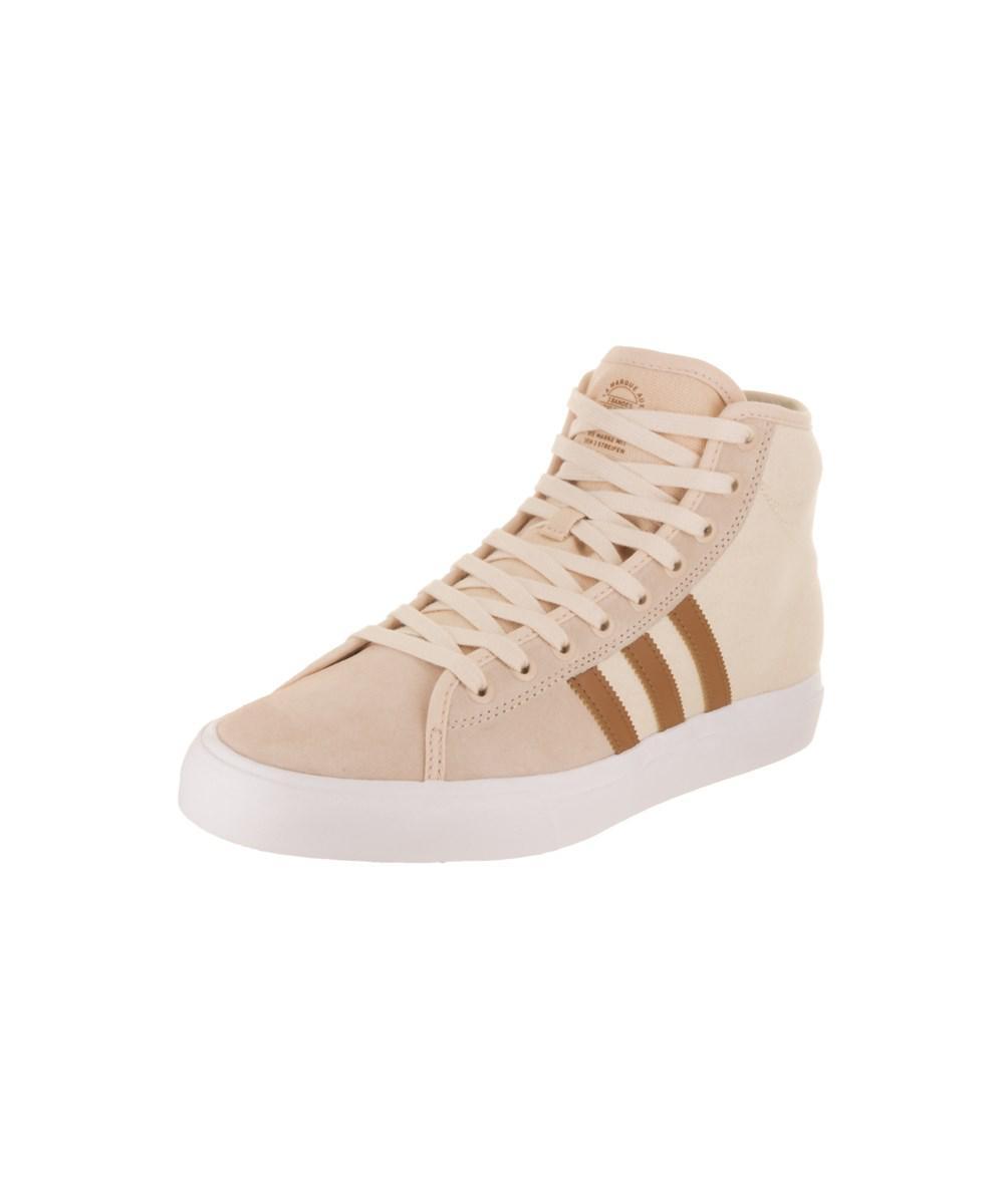 lyst adidas uomini matchcourt alto rx2 pattinare scarpa nel naturale per gli uomini