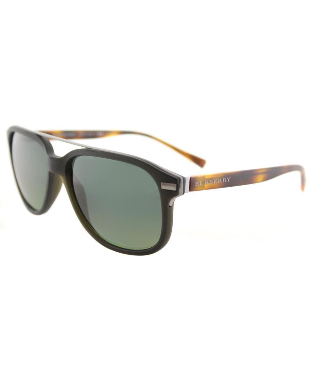 dedb7eb7e6d Burberry - Be4233 3620t4 Matte Green Square Sunglasses - Lyst. View  fullscreen
