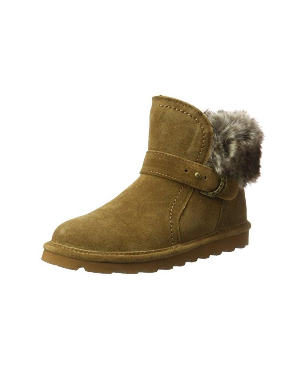 Discount Low Shipping Buy Cheap 100% Authentic Bearpaw Koko Bootie(Women's) -Black II Suede/Faux Rabbit Collar Discount Latest Official Site Online Sale Best Sale QOMGDRQm