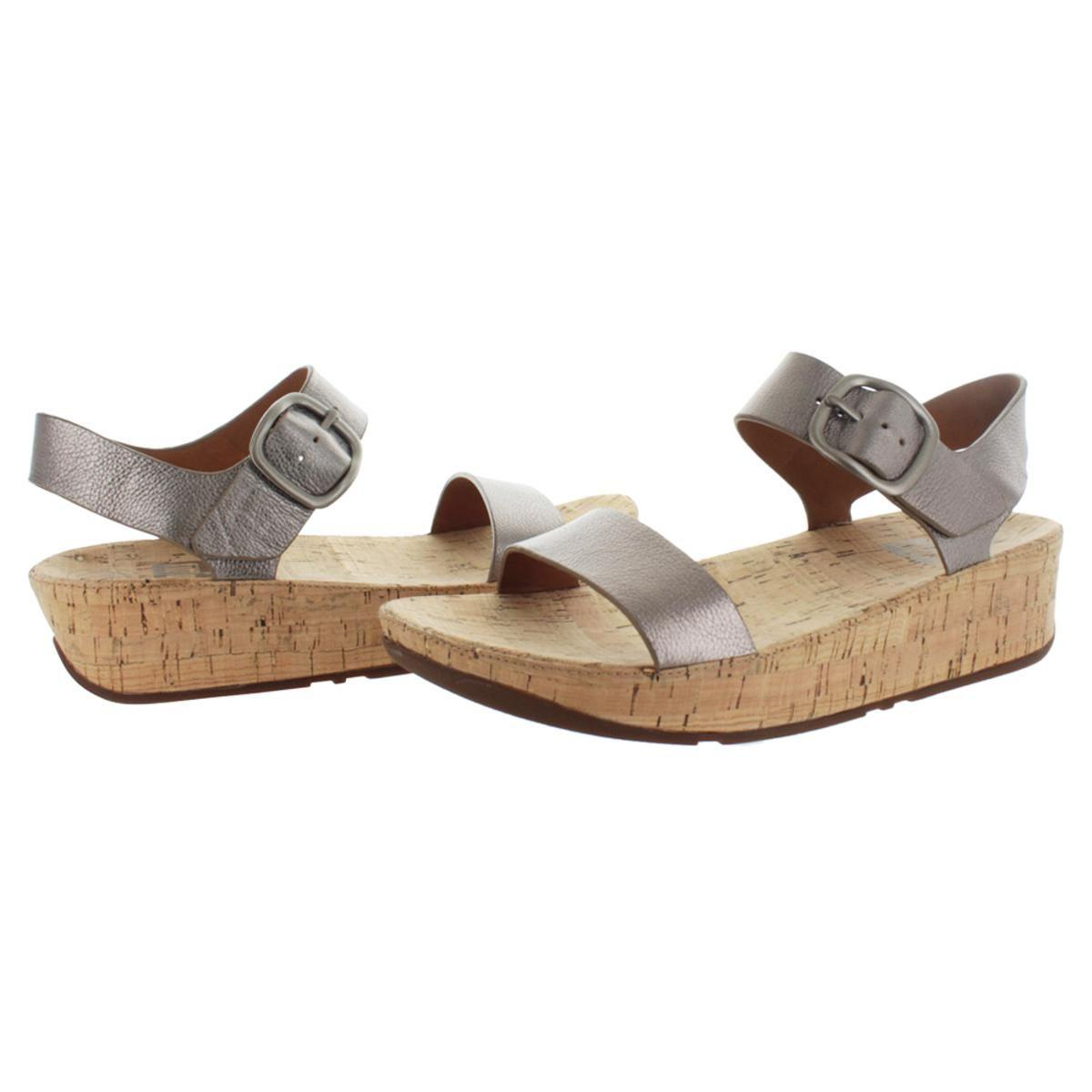 ff59481bf6a Lyst - Fitflop Womens Bon Leather Cushioned Platform Sandals