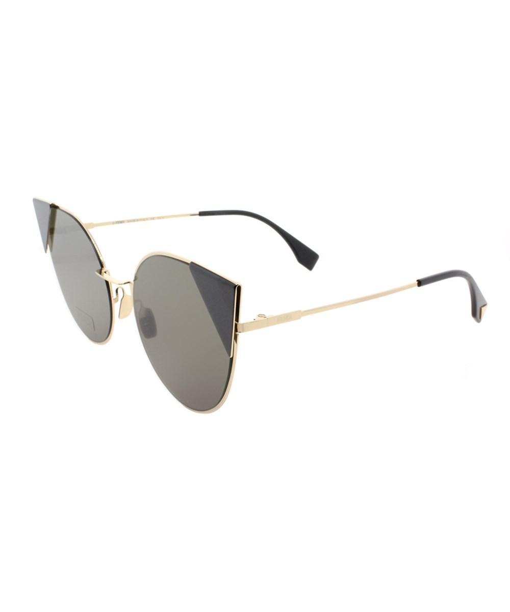 717a9dfd4d Lyst - Fendi Ff 0190 000 2m Rose Gold Lei Cat-eye Sunglasses