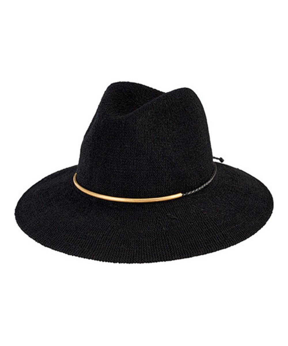 2ba9a1d8414 Lyst - San Diego Hat Company Women s Knit Fedora With Braided Faux ...