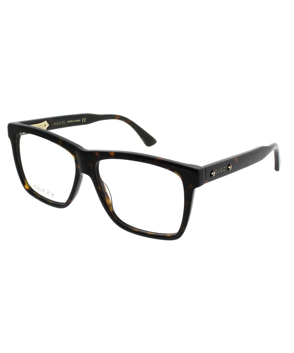 ec13b7b4e8 Lyst - Gucci Gg0268o 002 Havana Square Eyeglasses in Black for Men