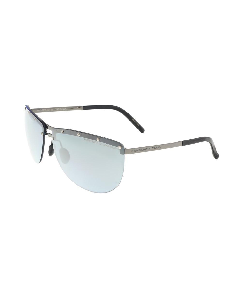 384a9698b3a Lyst - Porsche Design P8577-b Silver Aviator Sunglasses in Gray