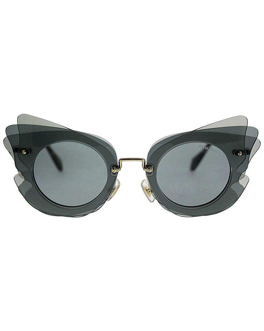 f3ff572cd584d Miu Miu - Blue Women s Mu02ss 63mm Sunglasses - Lyst. View fullscreen