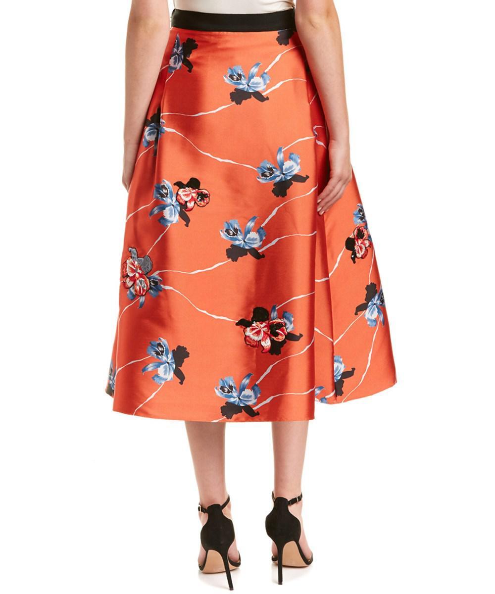 Sachin & Babi Woman Shruti Ruffled Floral-print Duchesse Satin-twill Maxi Skirt Black Size 6 Sachin & Babi Buy Cheap Outlet Locations sObrQix0