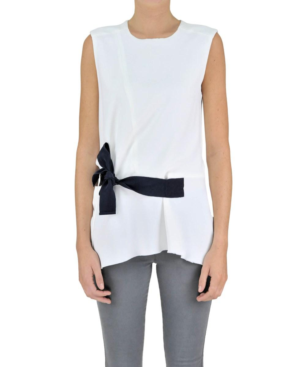 White viscose top Dondup Pay With Paypal JA9gii
