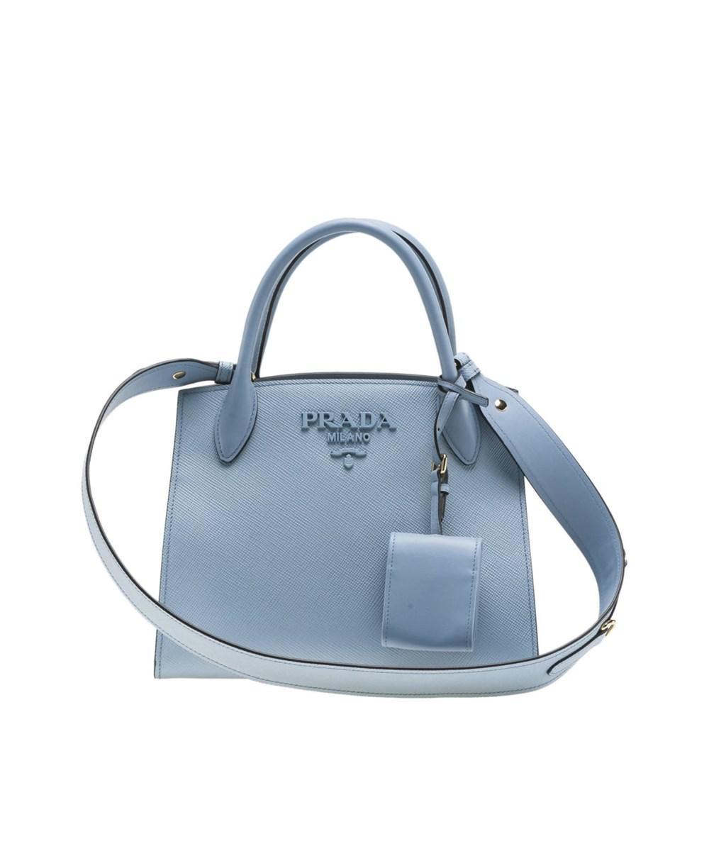 81e275731f Lyst - Prada Women s Light Blue Leather Shoulder Bag in Blue