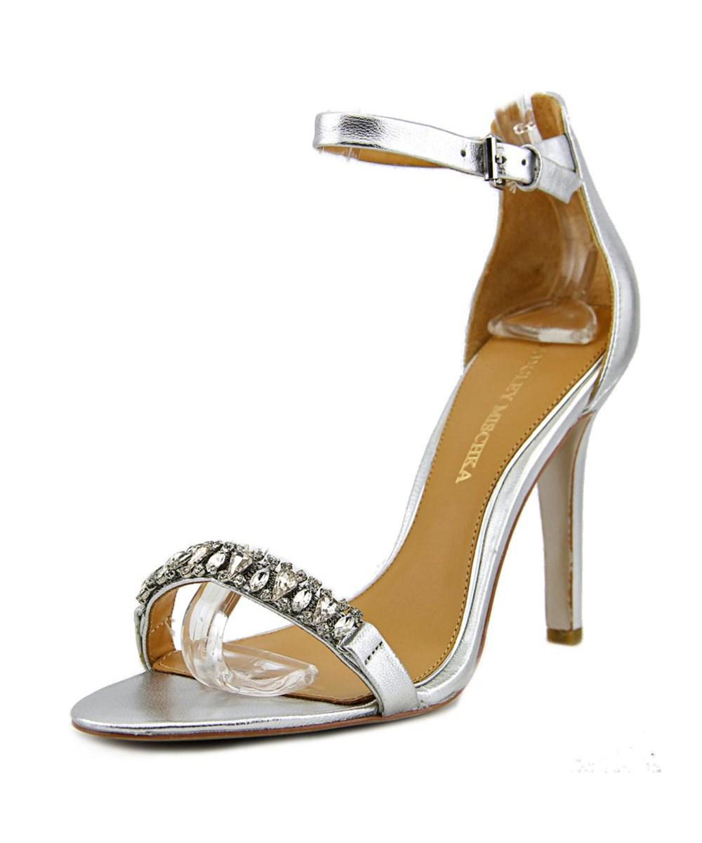 7f93780bc01 Metallic Elope Ii Women Open-toe Leather Silver Heels