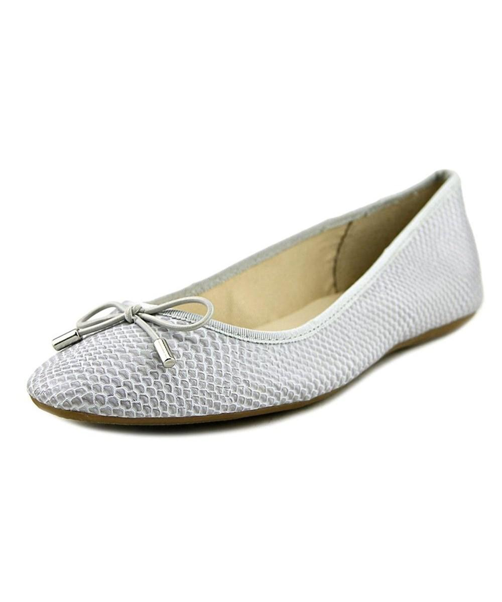 8c7db942482 Lyst - Alfani Womens Aleaa Closed Toe Ballet Flats in White