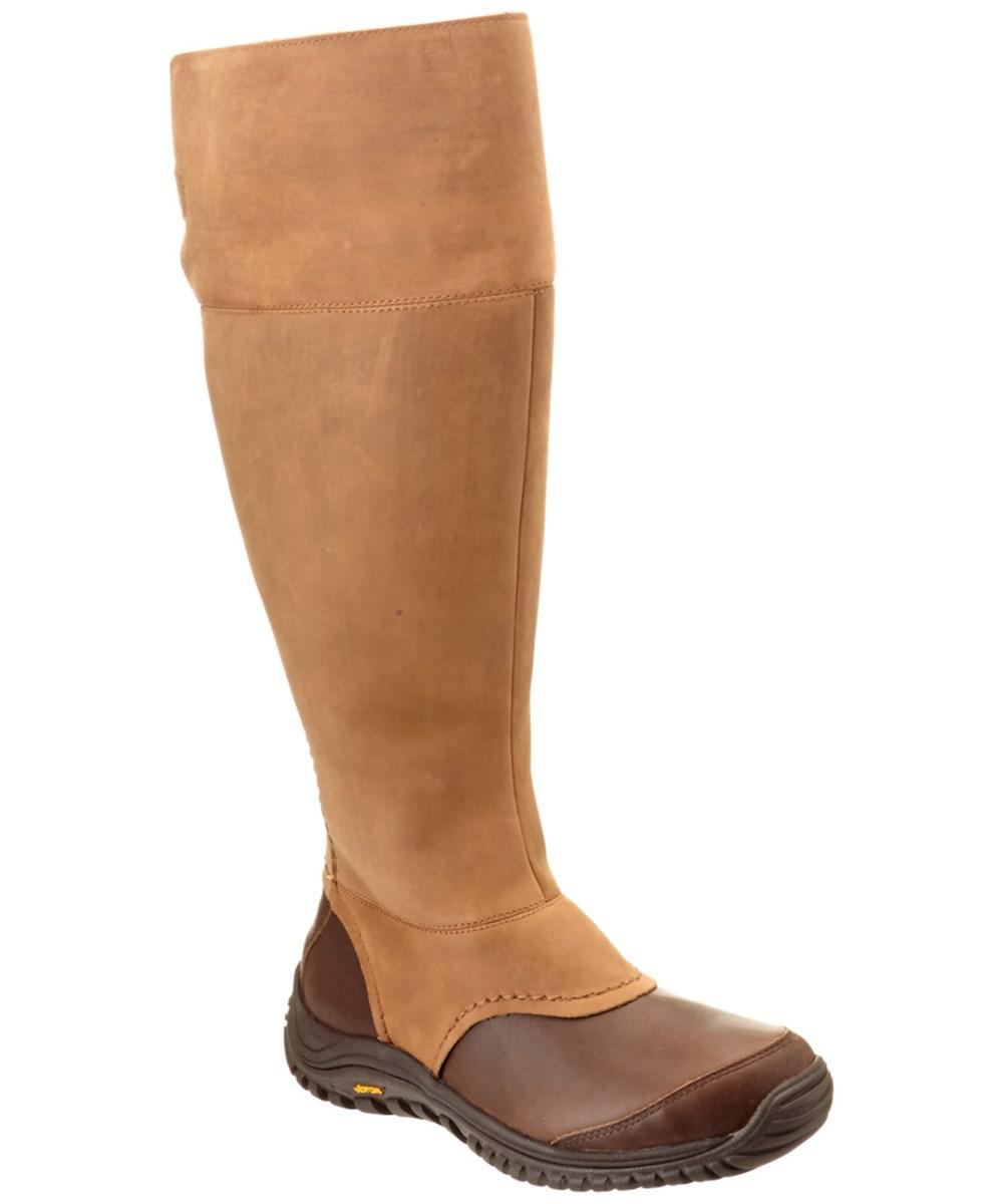 c390359b0cb Lyst - Ugg Women's Miko Waterproof Leather Tall Boot in Brown