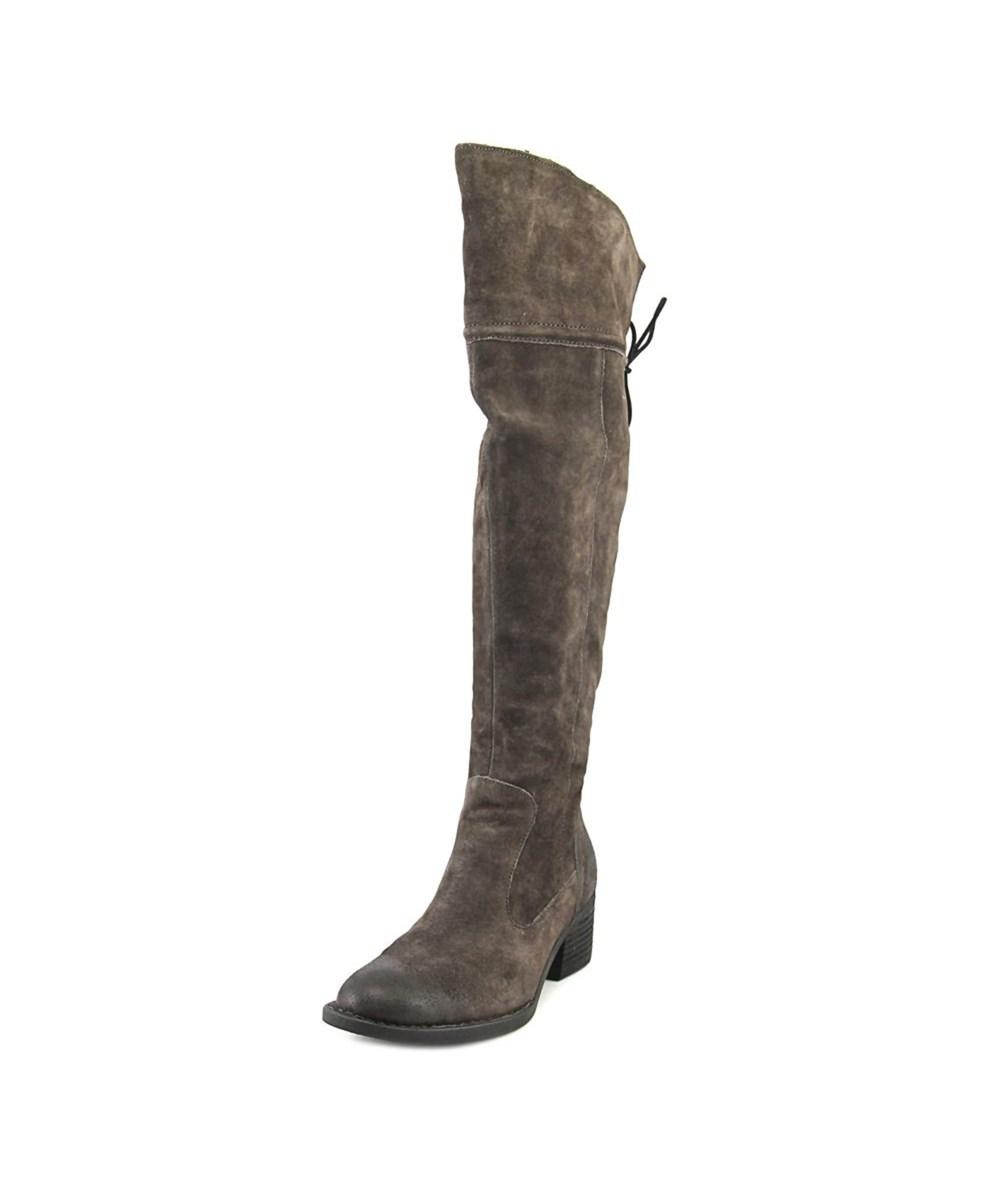 448c3403061 Lyst - Born Gallinara Women Round Toe Suede Gray Knee High Boot in Gray