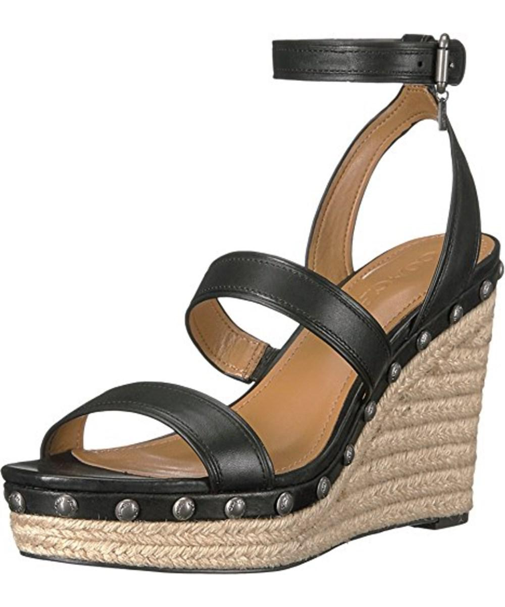 5085bd16861 Lyst - Coach Womens Darcy Open Toe Casual Platform Sandals in Black
