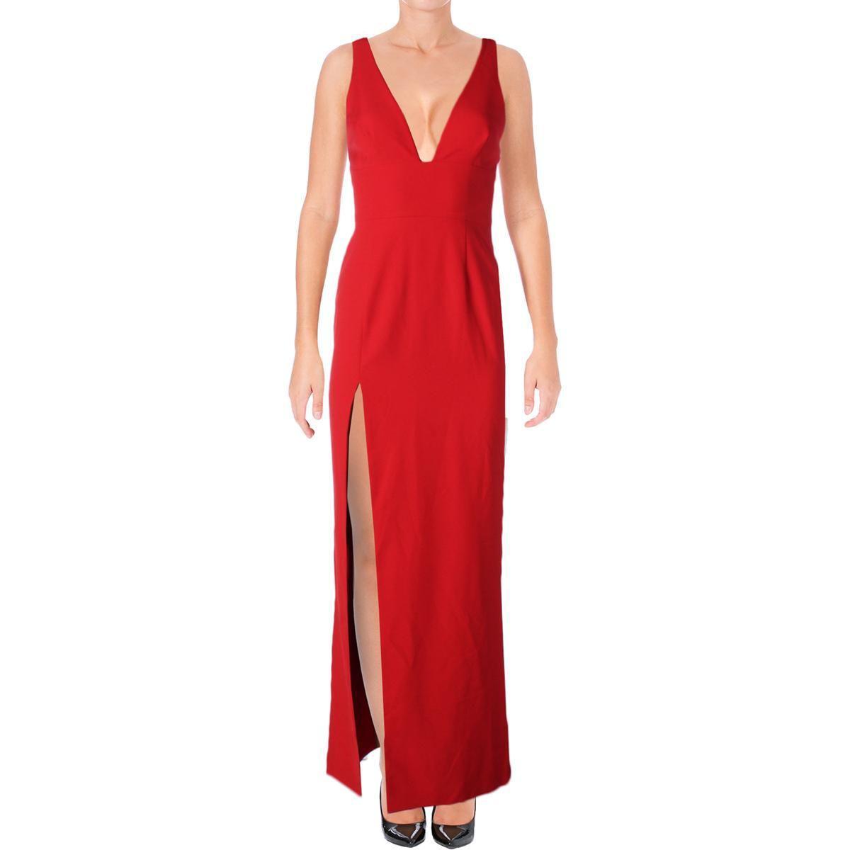 31f322ff83b1f Womens Red Maxi Evening Dress