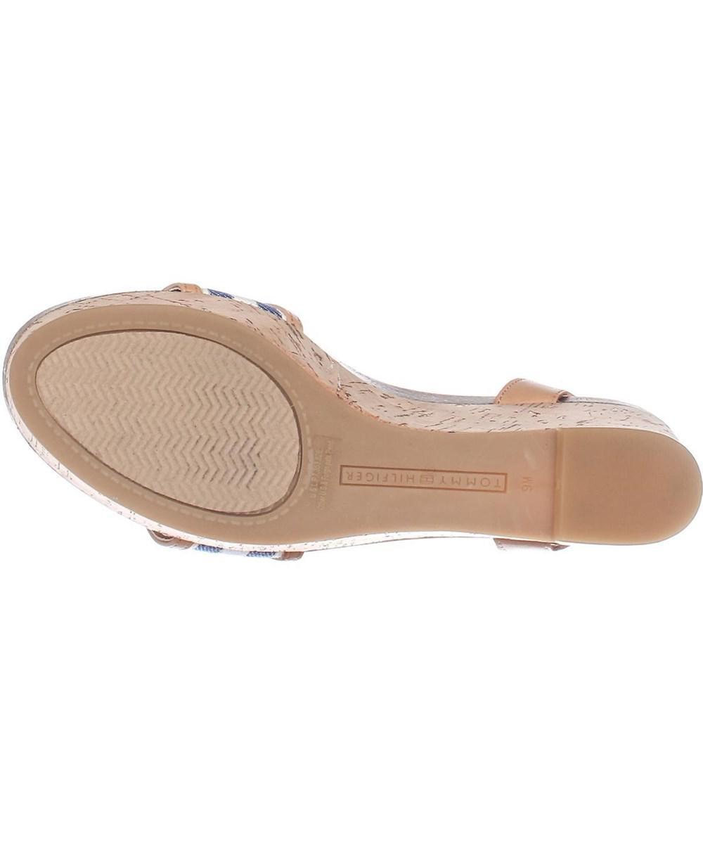 693f3c5e4dfba8 Lyst - Tommy Hilfiger Hesley Wedge Platform Ankle Strap Sandals ...