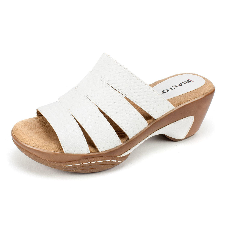 e27ff6a984e40 Lyst - Rialto Womens Valora Open Toe Casual Mule Sandals in White