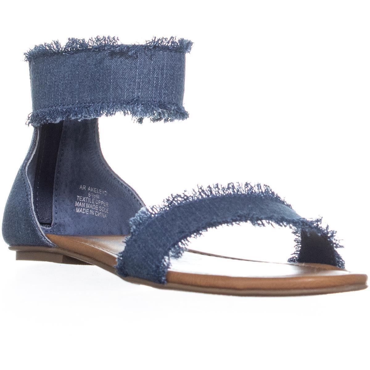 662b4ba46fd American Rag. Women s Blue Ar35 Keley Ankle Strap Flat Sandals ...