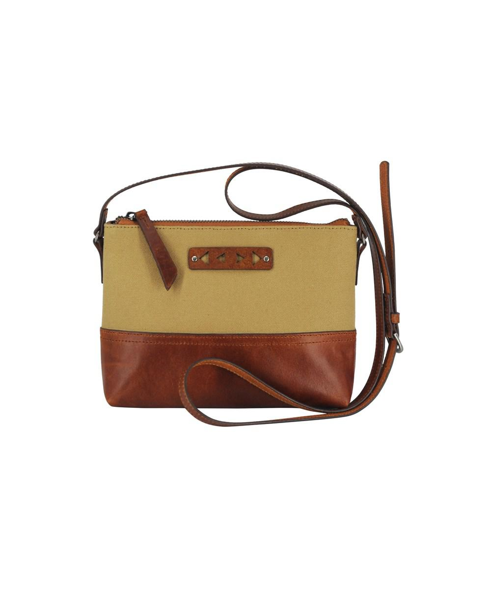 Lyst Most Wanted Usa Minimal Leather Canvas Crossbody In Brown Ready Nwt Maya Hobo View Fullscreen