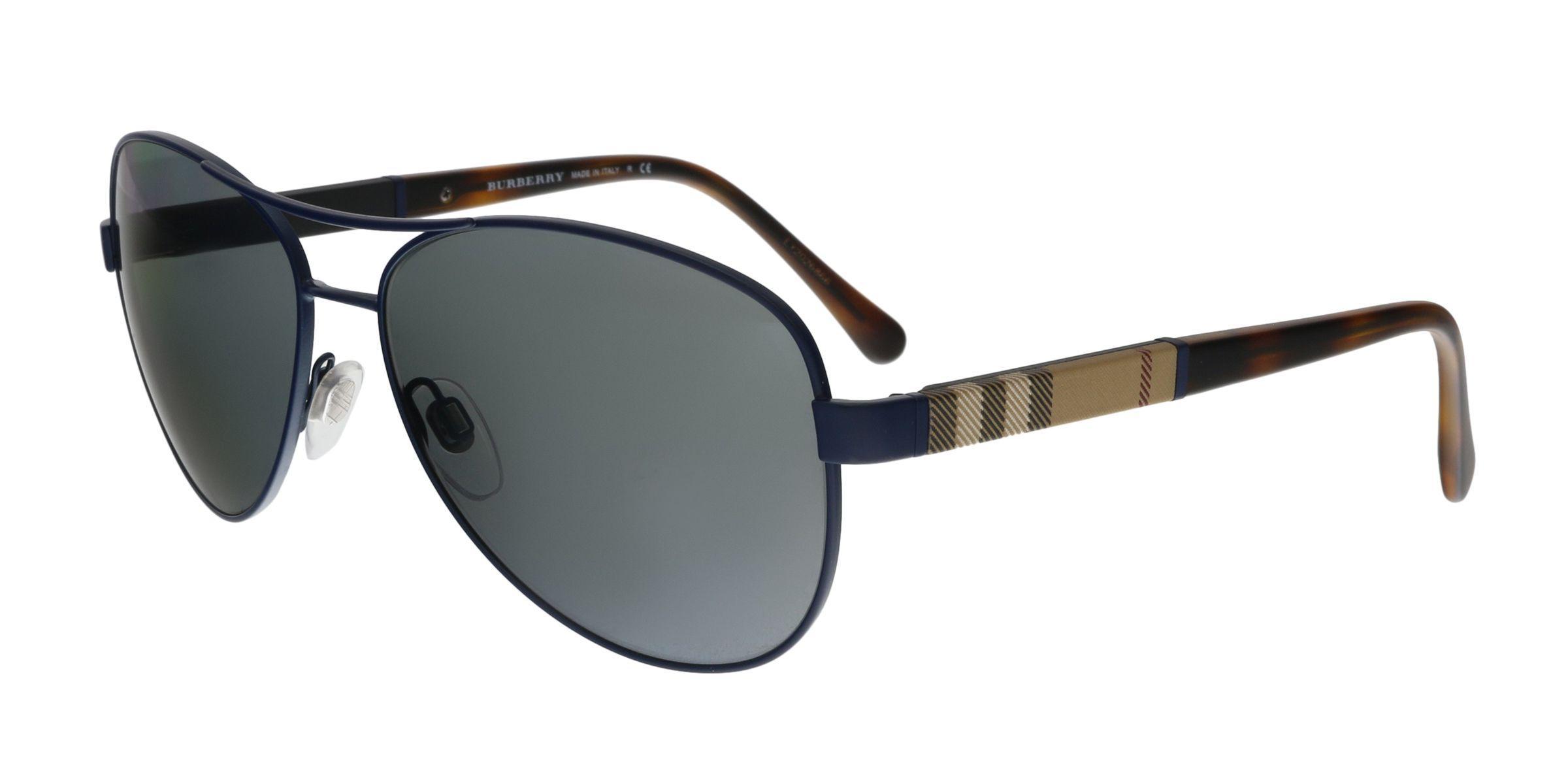 13c7956c22c Lyst - Burberry Be3080 12346g Matte Blue Aviator Sunglasses in Blue