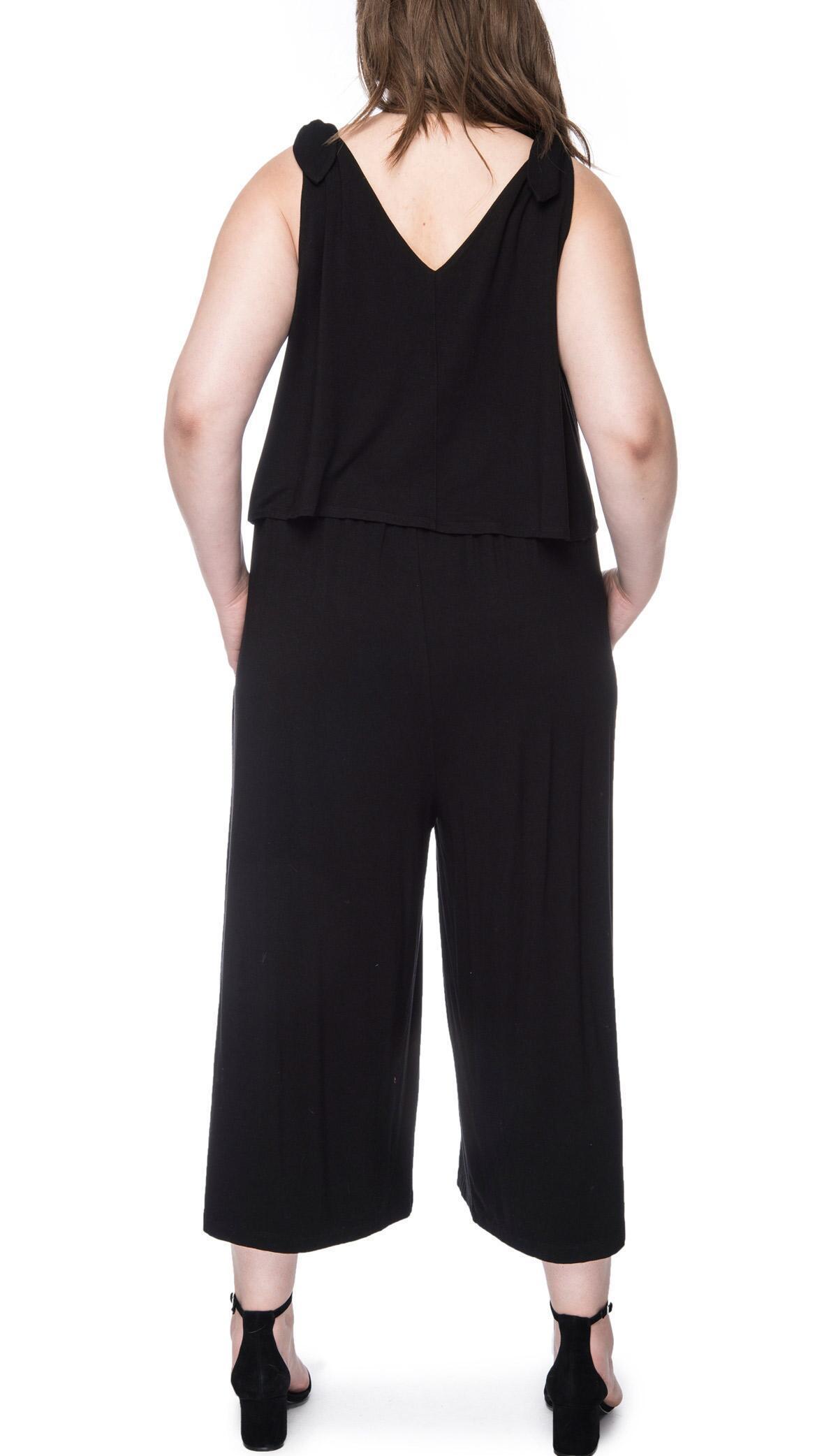 18571e09eab8c Bobeau - Black Vicky Plus Size Knit Jumpsuit - Lyst. View fullscreen