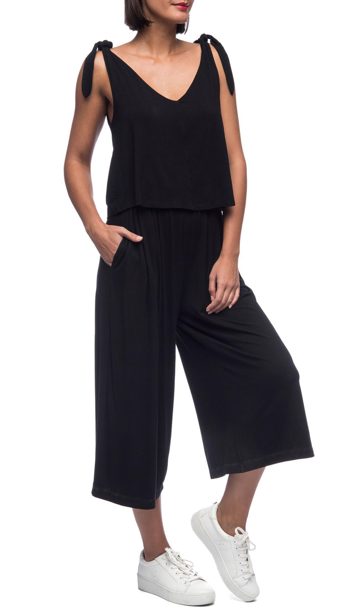 e39dd595dec51 Bobeau - Black Vicky Knit Jumpsuit - Lyst. View fullscreen