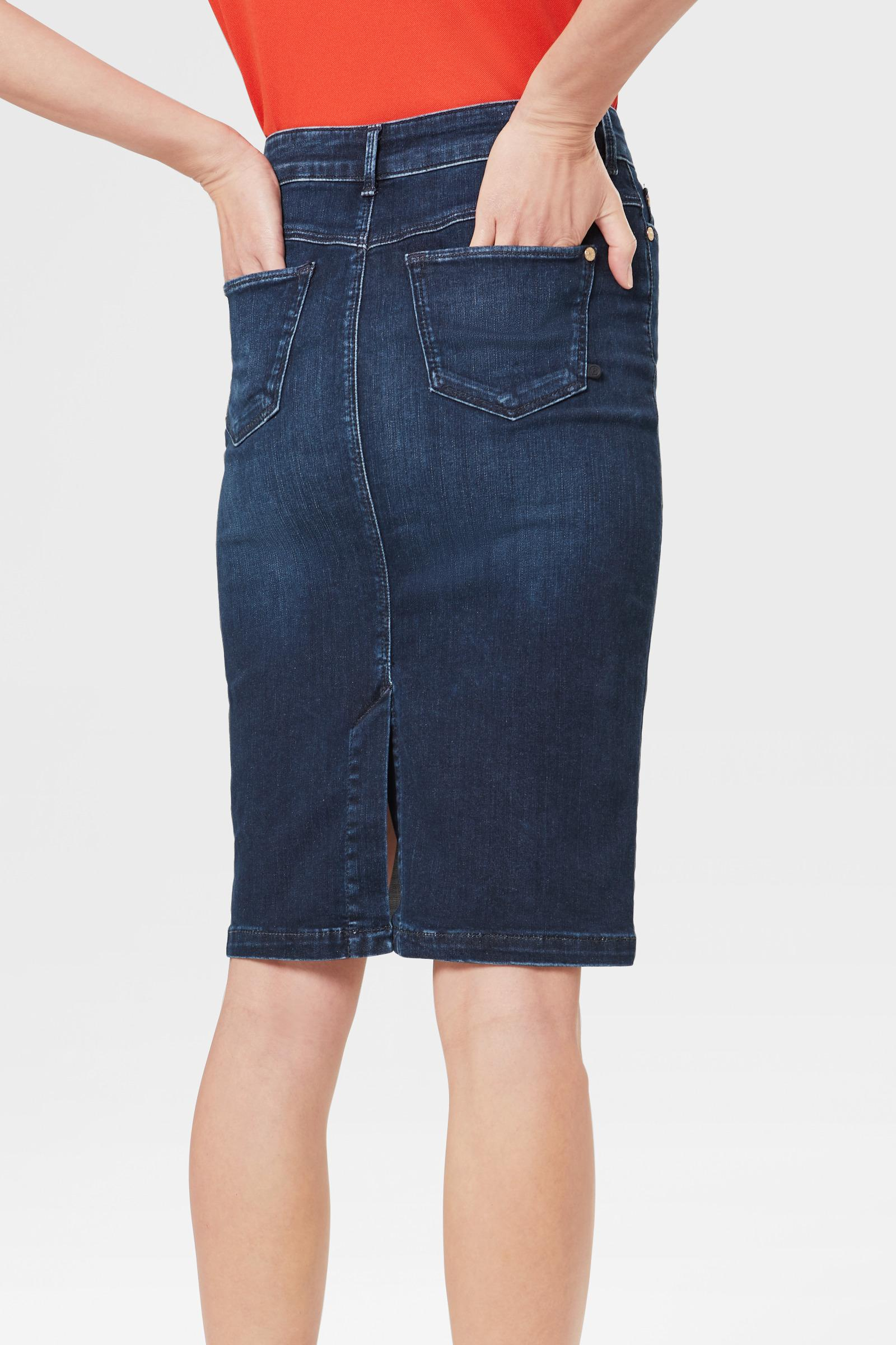 ef7b7ca525ba45 Bogner - Jodie Skirt In Denim Blue - Lyst. View fullscreen