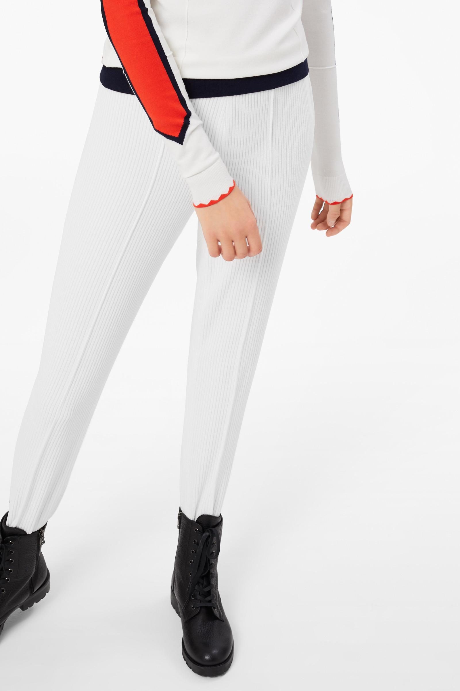 8284facfb961d1 Bogner Elaine Corduroy Stirrup Pants In Off White in White - Lyst