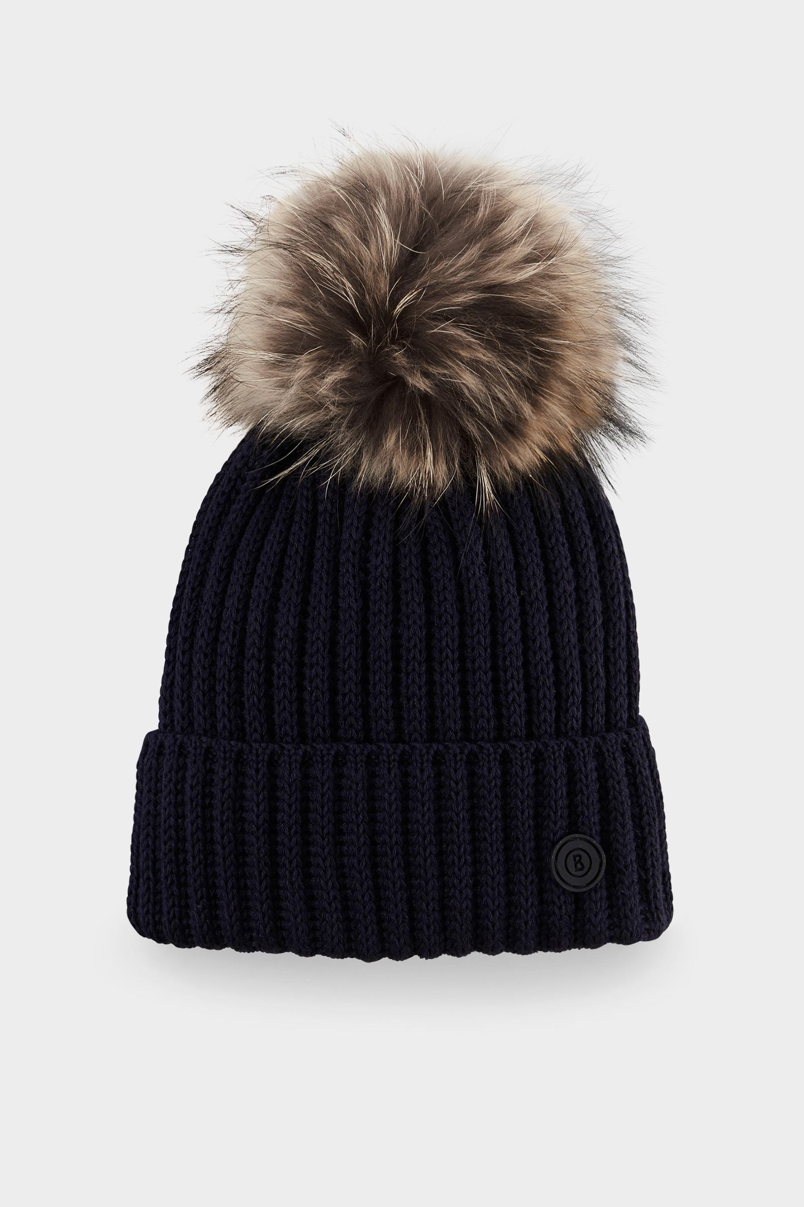 7ef2f3ff7a2 Bogner Leonie Knitted Hat In Navy Blue in Blue - Lyst