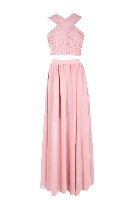 f0d4be23dc Blush Chiffon Maxi Skirt