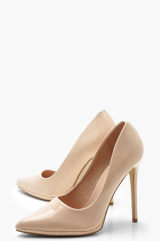 a0f867b5d2a Boohoo - Natural Platform Pointed Court Shoes - Lyst. View fullscreen