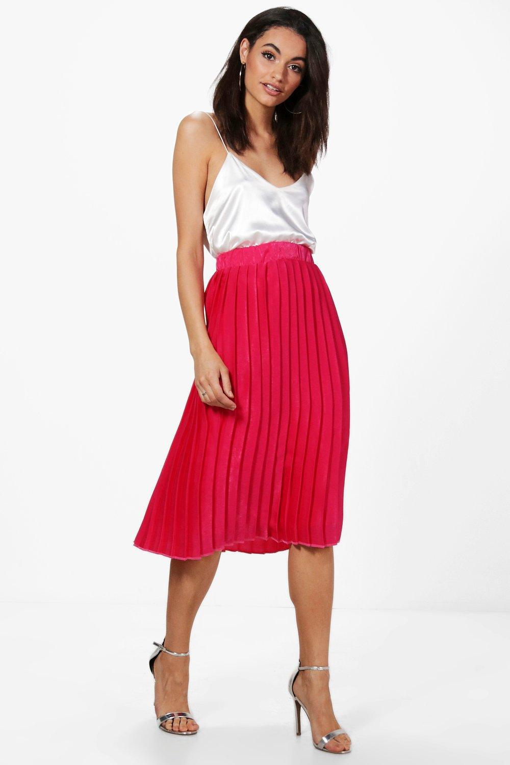 30a1dac46d Gallery. Previously sold at: Boohoo · Women's Midi Skirts Women's Pleated  ...