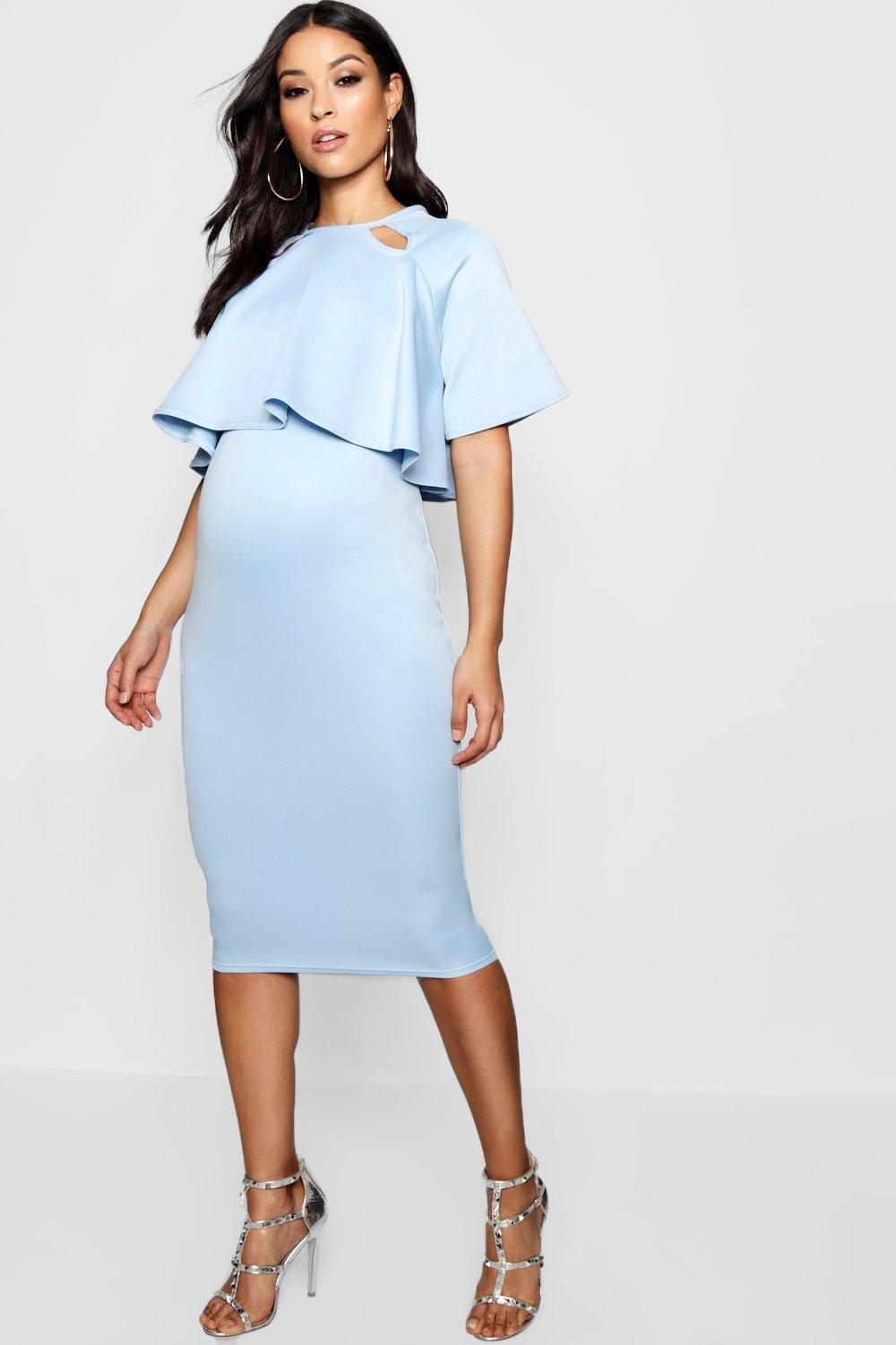 3a746fe4a2e00 Boohoo Maternity Double Layer Wiggle Dress in Blue - Lyst