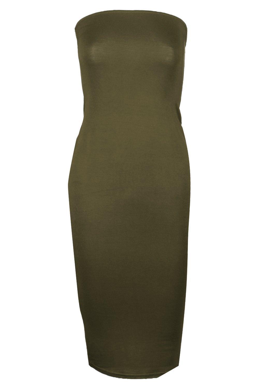 f242aceb794e ... Bandeau Bodycon Midi Dress - Lyst. View fullscreen