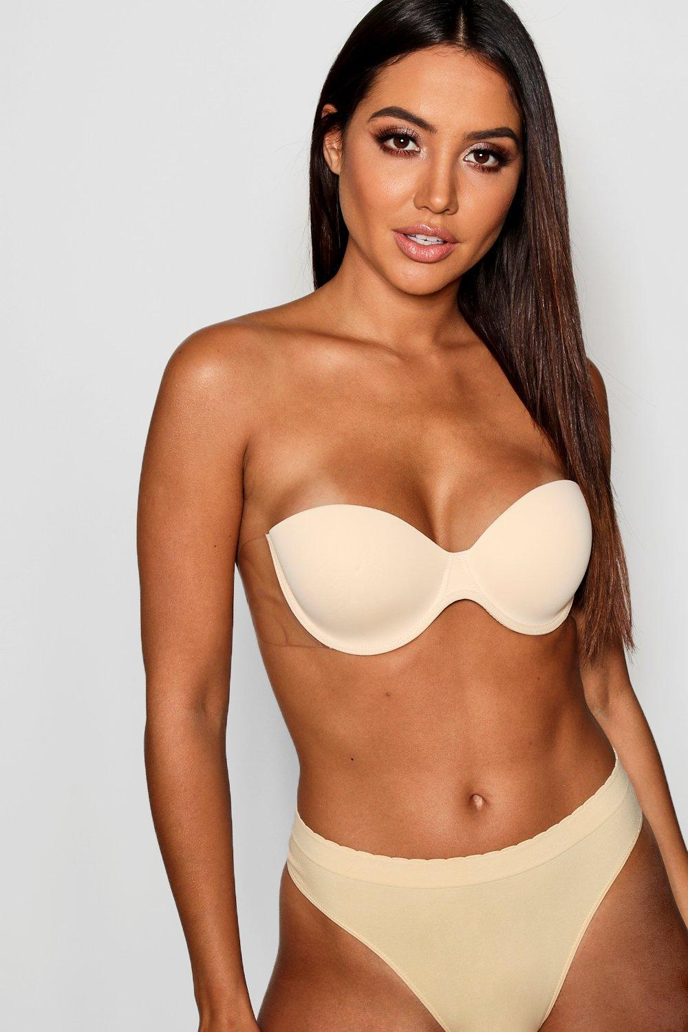 a731b98eb0e56 Boohoo - Multicolor Underwired Balconette Stick On Bra - Lyst. View  fullscreen