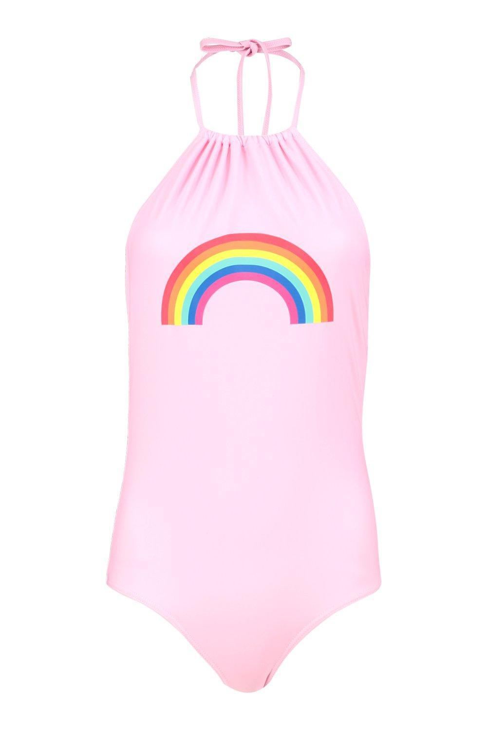 72975504d4 Lyst - Boohoo Cancun Rainbow Swimsuit in Pink