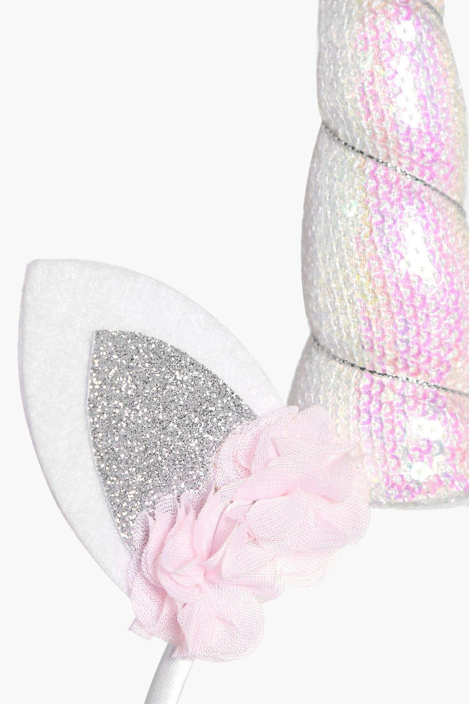 Lyst - Boohoo Macy Holographic Bridal Unicorn Headband in ...