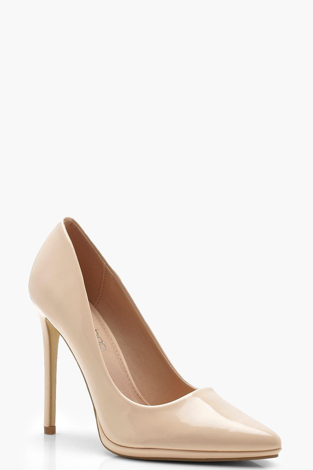 9f6bd7d2fde Boohoo Platform Pointed Court Shoes in Natural - Lyst