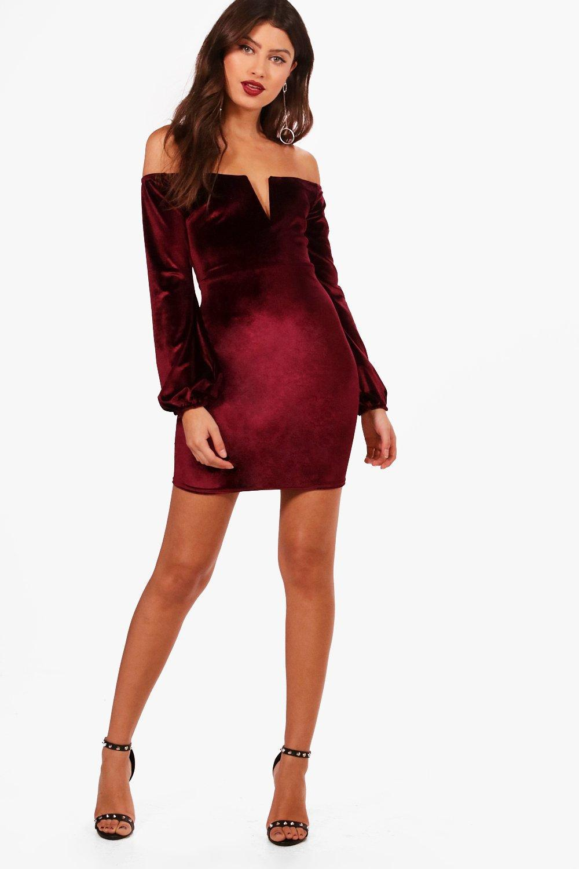 Black lace velvet trim open back bodycon dress