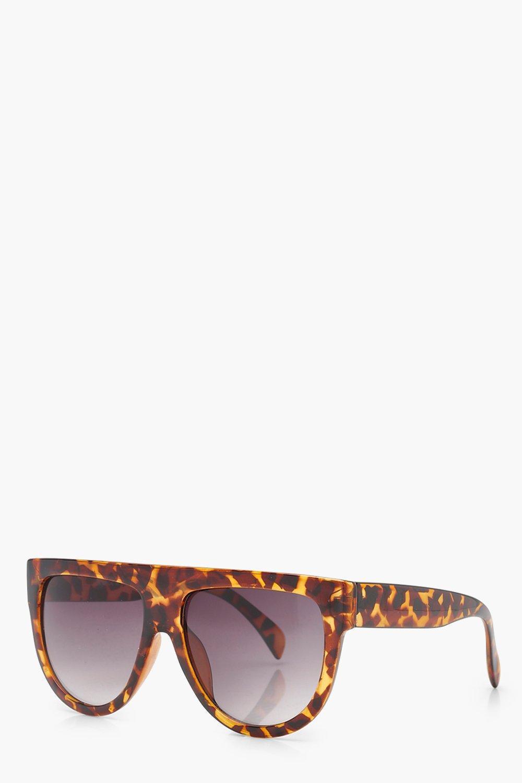 Erin Flat Top Brow Tortoiseshell Sunglasses JUv3K