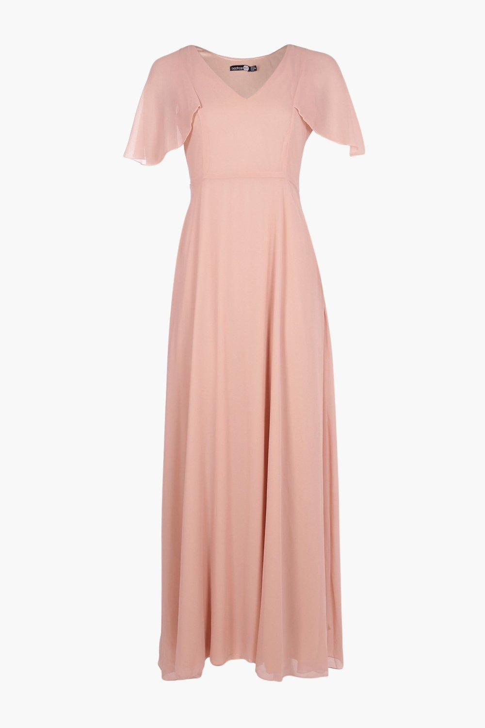 5a3740120d64 ... Chiffon Cape Detail Maxi Dress - Lyst. Visit Boohoo. Tap to visit site