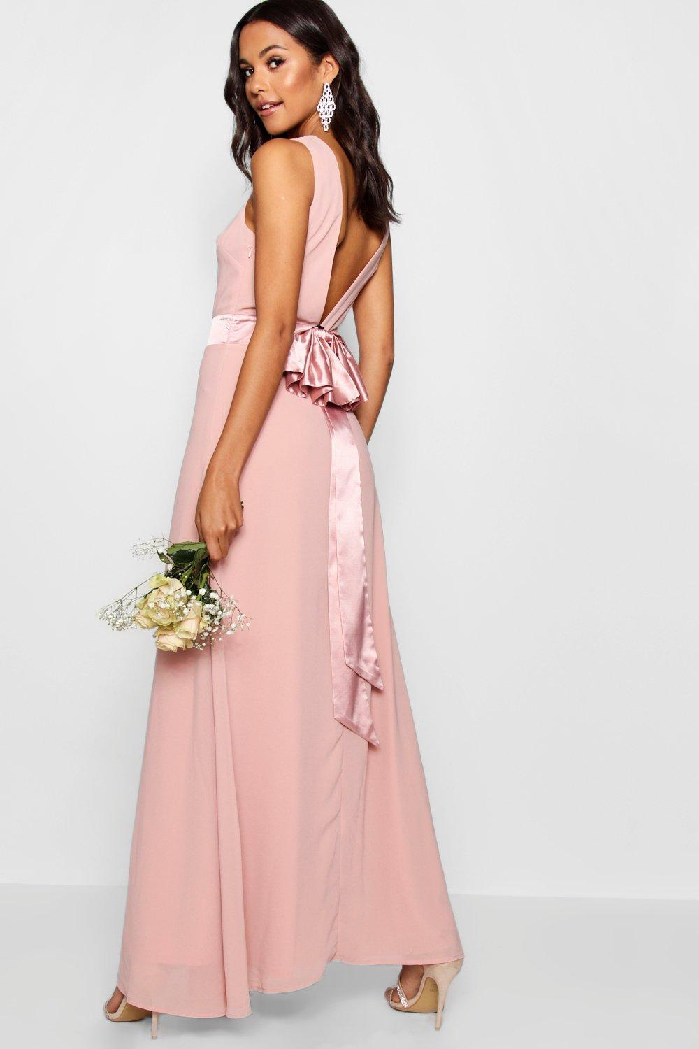 16d83bcc427 Lyst - Boohoo Cara Bow Back Maxi Dress in Pink - Save 27%