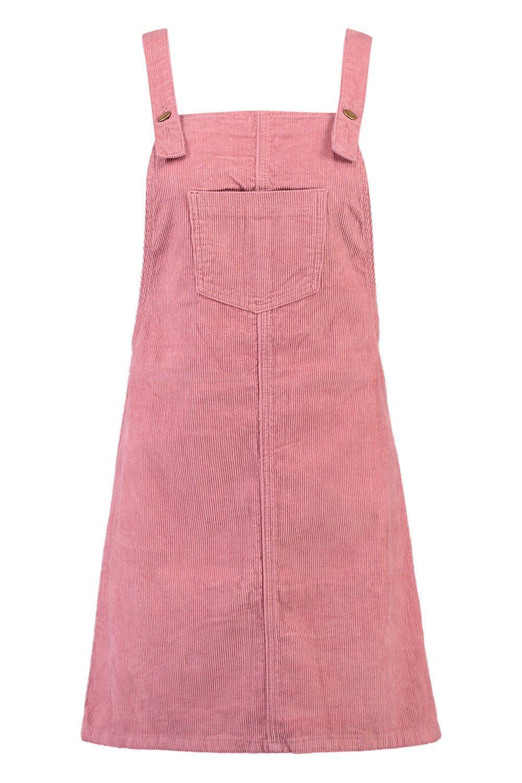 7e6d1f0dfac Boohoo - Pink Pocket Front Cord Pinafore Dress - Lyst. View fullscreen