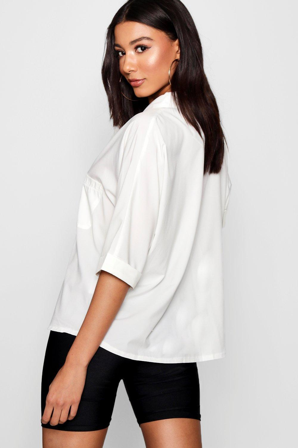 Cheap Sale Pay With Paypal Outlet Marketable Boohoo Horn Button Detail Revere Collar Shirt Free Shipping Cheap UjNBd1IO3y