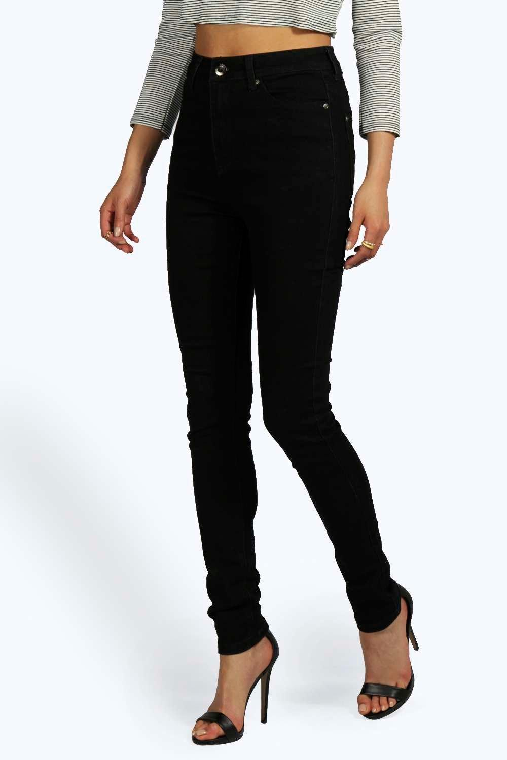 Boohoo high waist disco jeans